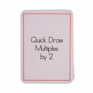 Quick Draw Multiples (by 2) Card Deck