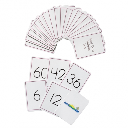 Quick Draw Multiples (by 6) Card Deck