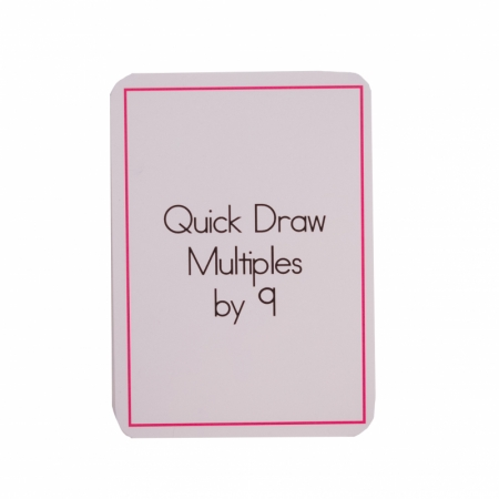Quick Draw Multiples (by 9) Card Deck