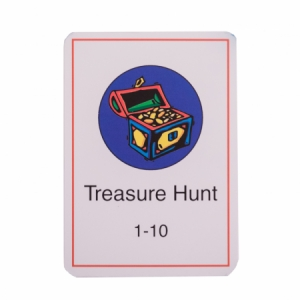 Treasure Hunt Card Deck (Number Range 1-10)